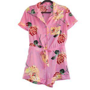NWT Victoria' Secret Lounge Romper Pajama Floral